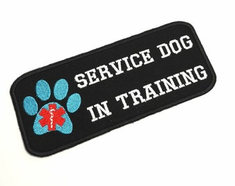Patch Service Dog In Training for service dog vest - Service dog patch - On  velcro (hook and loop) 4b7644400c6