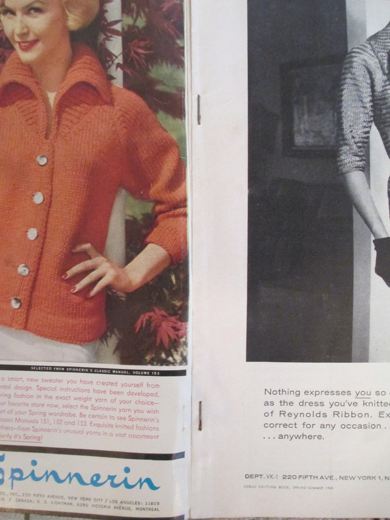 Vogue Knitting Book Spring and Summer 1960 - Nice Patterns and Styles for  All!