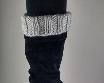 Knit Boot Cuffs / Women Boot Cuffs / Boot Toppers / Ribbed Boot Cuffs / Calf Warmers / Leg Warmers / Winter Boot Cuffs / Stretchy Boot Cuffs