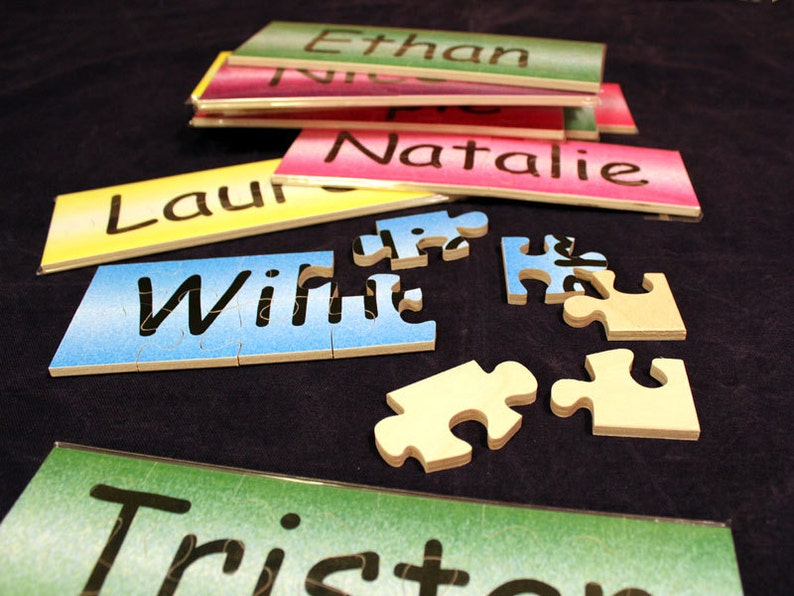 Custom Made Wooden Name Jigsaw Puzzles image 0