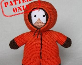 PATTERN ONLY! Kenny McCormick South Park crochet pattern