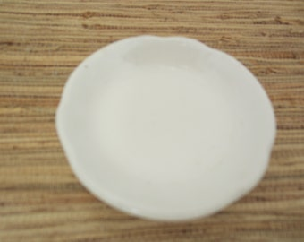 Antique White Butter Pat/Vintage Butter Pat/Small Trinket Dish/English Dish/Small Dish/Johnson Brothers Dish/English China/Collectible