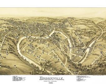 Brookville Jefferson County Map