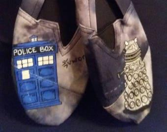 Doctor Who Slip On Shoes - Dalek vs The TARDIS *LAST PAIR*