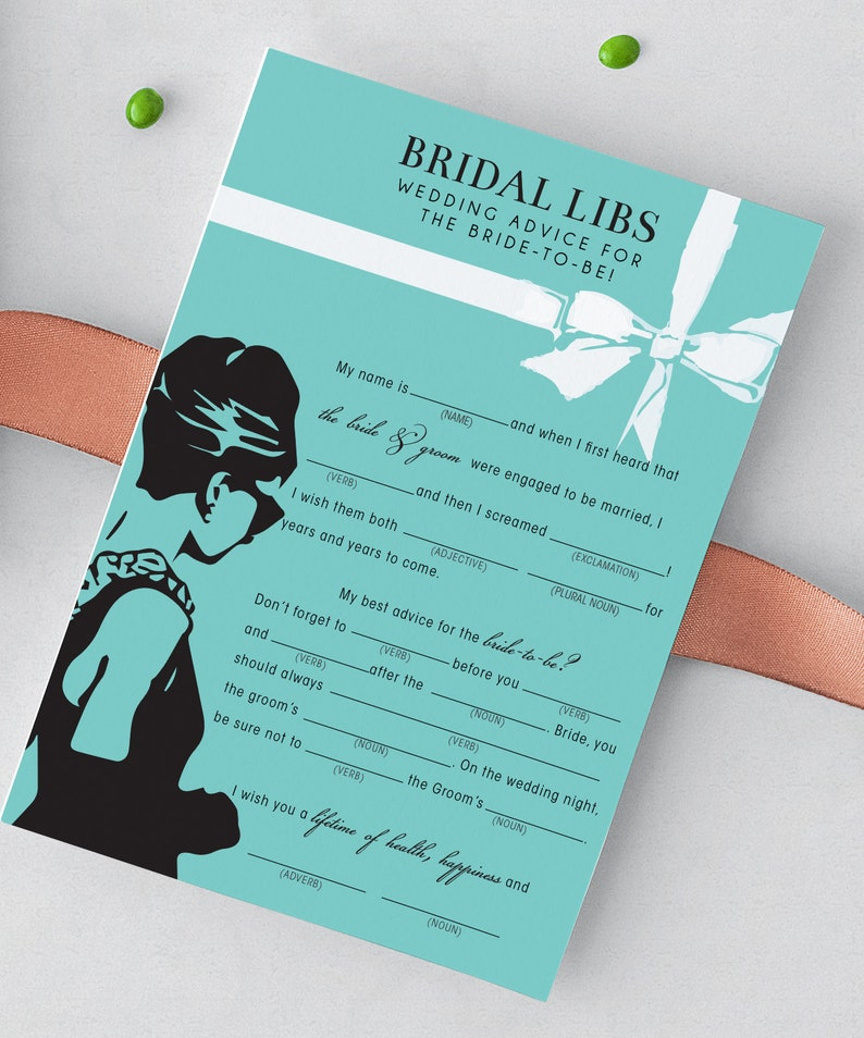 Breakfast at Tiffany's  Mad Libs Game image 0