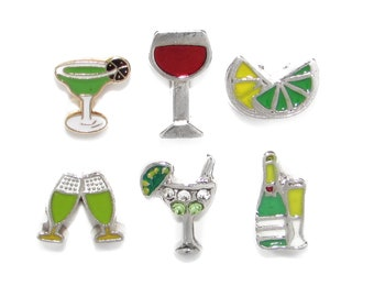 shot glass charm for living glass floating locket red solo cup