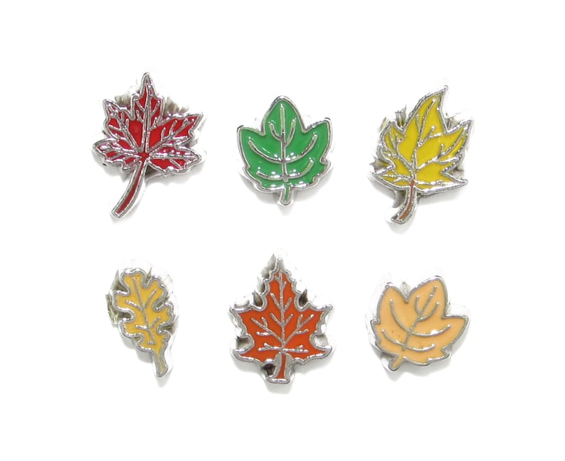 Your Choice Of Charm Tree Leaves Floating Charm For Memory Locket Fall And Spring