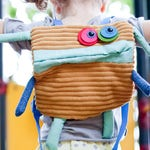 toddler backpack, children backpack, kids backpack, monster backpack