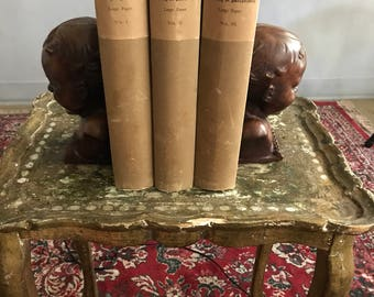 1886 Limited Edition Burton Anatomy of Melancoly 3 Volumes by A.C Armstrong rare 1800s medical science poetry saddness loneliness Emotions