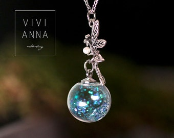 Feenstaub - Night light chain Tinkerbell Handmade Jewelry gift for her  K397