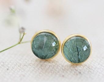 Echte Hortensie Ohrringe - 925 Silber Ohrringe - Blumen Ohrringe - 925 rose vergoldetes Silber - echte Blumen Ohrringe  e369