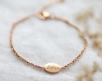 Personalisiertes Armband - Armkette -  Edelstahl - Silber, Gold oder Rosé Gold - a175