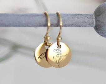 925 Silber Ohrringe - Pusteblumen Ohrringe - 925 rose vergoldetes Silber  e366