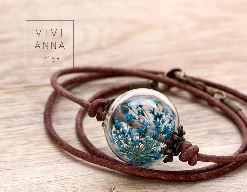 Joy of life Leather necklace Handmade Jewelry Gift for Women image 0