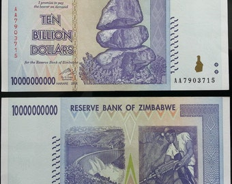 10 Billion Zimbabwe Dollars note 10000000000 Original gift Best for weddings party