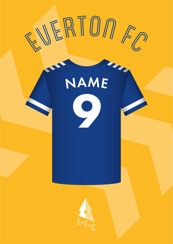 Everton Football Shirt Personalised Picture Gift