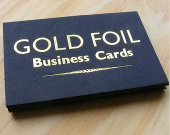 Business calling cards etsy uk 100 custom design gold foil business cards reheart Gallery