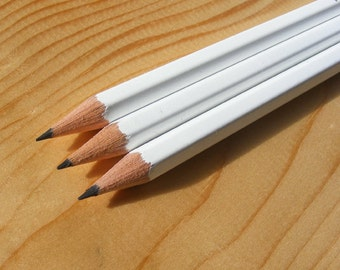 Personalised HB White Pencils