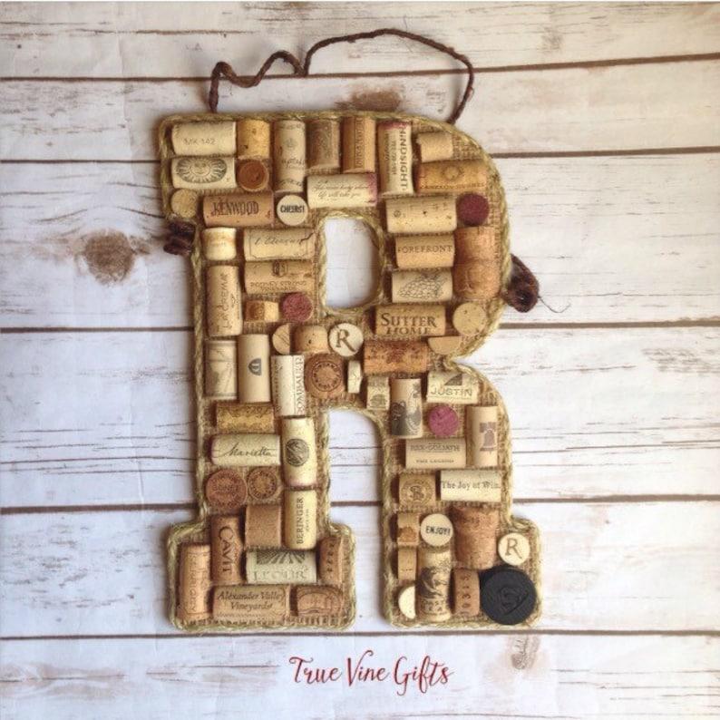 Wine Cork Letter R