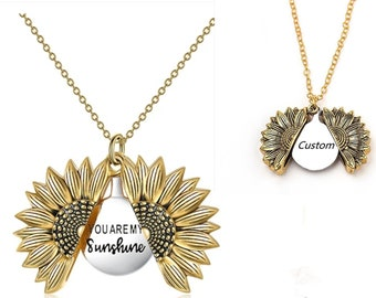 Lyrics Pendant for her Grandma Custom One Shoppe You are My Sunshine Necklace