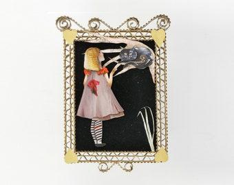 ALICE & CHESHIRE CAT- Small Paper Portrait