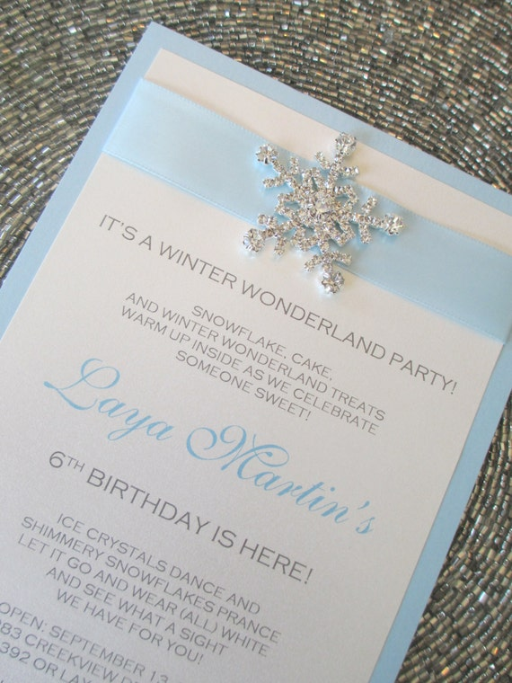 winter wonderland invitation frozen invite baby blue invite etsy