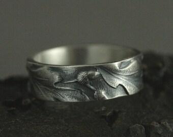 Leaf Band Ring Nature Jewelry Oak Leaf Jewelry Druid/'s Treasure Oak Leaf Ring Silver Adjustable Ring Bohemian Jewelry Boho Jewelry