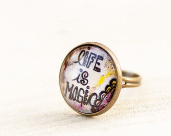 Magic Ring - Inspirational Ring - Positive Affirmation - Jewelry with Meaning - Adjustable Ring - Gift for Women - Best Friend Gifts
