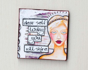 Motivational Magnets - New Job Gift - Inspirational Magnets - Refrigerator Magnets - You Shine - Quote Magnets - Cute Magnet - Mom Gifts