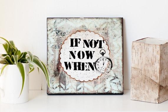 Arrête de métal mural signe plaque art motivational inspirant citation happy