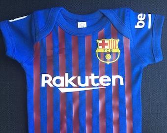 7a12375ad4b barcelona baby soccer bodysuit