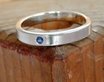 Blue Sapphire stone set ring