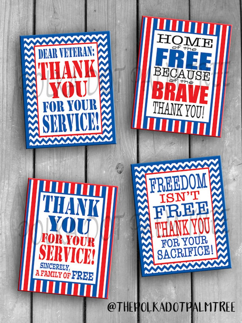 photo relating to Military Thank You Cards Free Printable named Immediate Down load Printable Veteran Army Patriotic Thank On your own Playing cards Notes Thank Oneself For Your Assistance Property Of The Cost-free Given that Of The Courageous