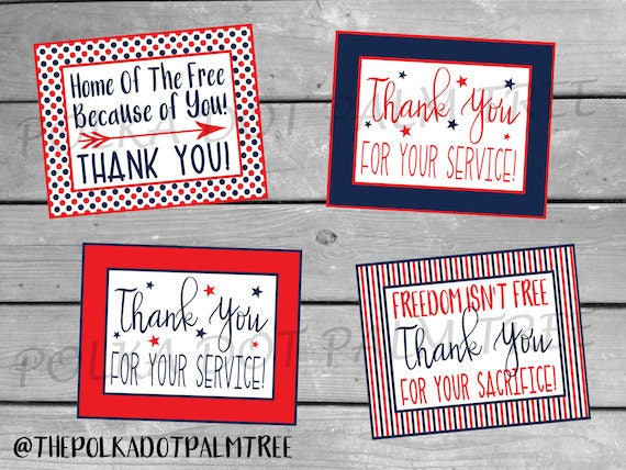 INSTANT DOWNLOAD Printable Veteran Military Patriotic ...