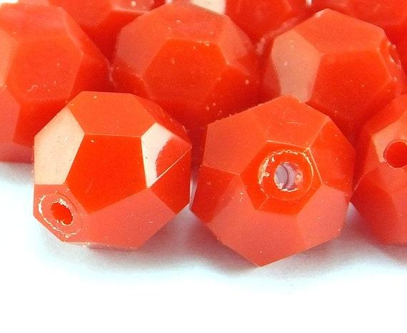Vintage Plastic Beads Vintage Round Beads 12-45 20 Pcs German Lucite Beads 12mm