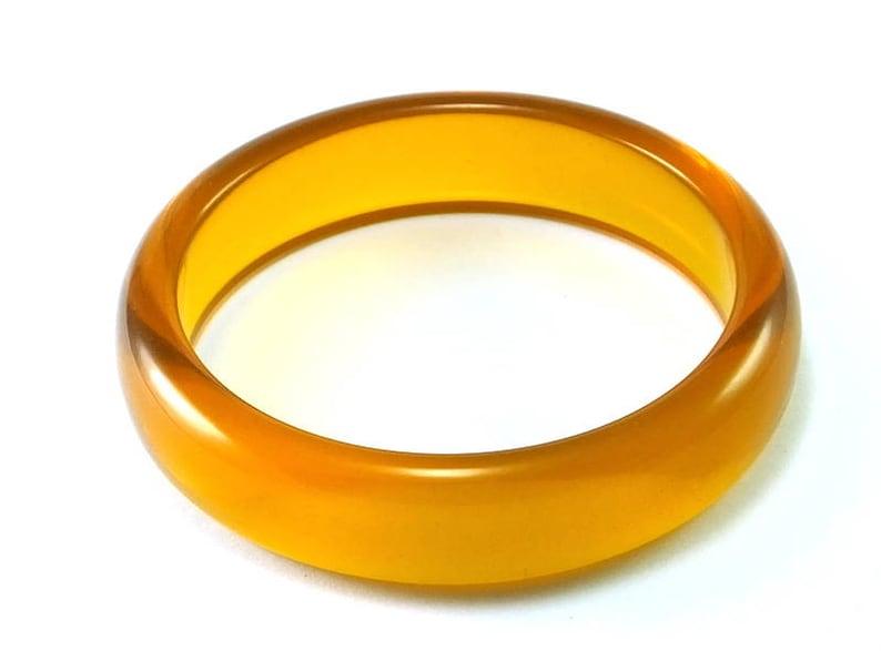 Vintage Bracelet internal measure 65mm 82x16x08mm Bracelet Supply Transparent Orange Vintage Plastic Bangles Vintage Jewelry