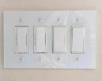 Modern 4 Gang Light Switch Cover Plate