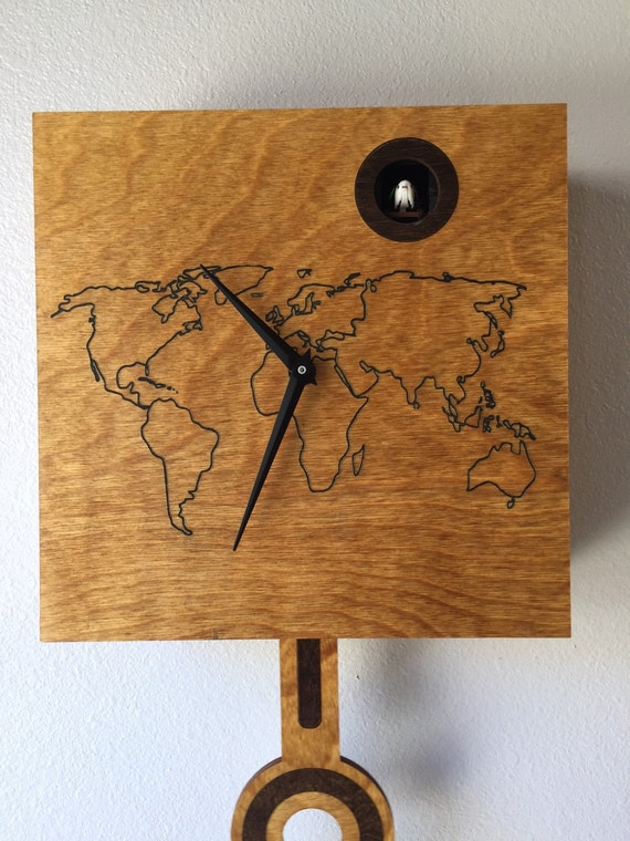 Cuckoo clock wall mount world map face gumiabroncs Image collections