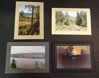 Set of 4 Blank Photo Cards with Envelopes