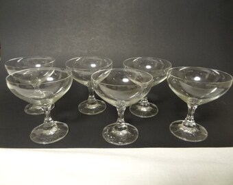 1979 Action Industries Inc. European Crystal Champagne Glasses - Set of 6