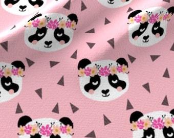 Panda Girl Nursery Floral Minky Crib Sheets Car Seat Cover