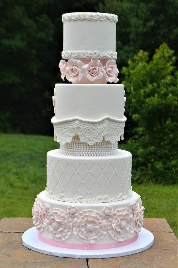 6 Tier Faux Wedding Cake Faux Wedding Cake Fake Wedding Etsy