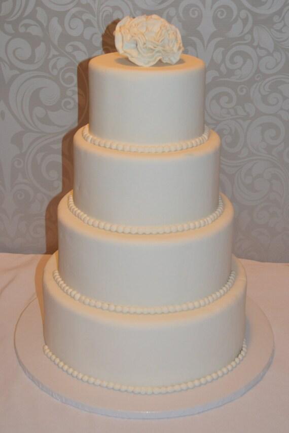 Vier Etagen Fondant Faux Hochzeitstorte Fake Hochzeitstorte Etsy