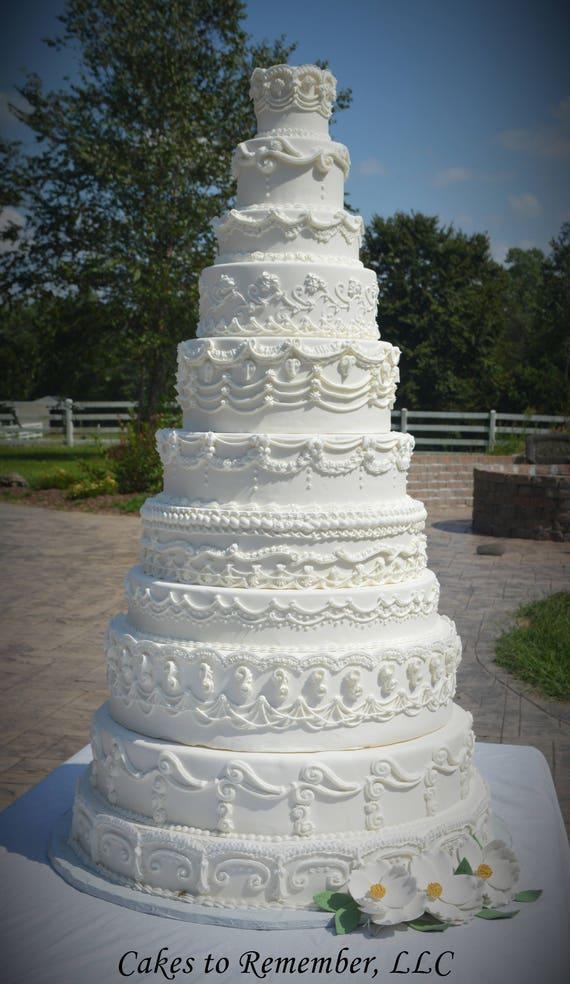 Elf Tier Fondant Dummy Kuchen Gefalschte Hochzeitstorte Etsy