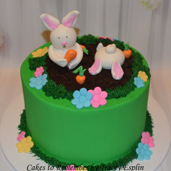 easter cake decorations fondant easter bunny cake decorating set fondant bunny 3787