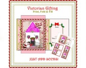 VikkiVines Christmas Tiny-Packs GARDEN GIFTS Just Add Seeds Vintage Wrapping, Card Insert and Name Tags, Holidays, Digital L1