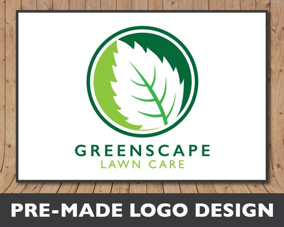 lawn service logo landscaping logo lawn care logo design