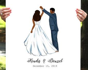 Printable Guestbook, Wedding Guest Book, Wedding Sign, African American Wedding, Wedding Guest Book Alternative, Wedding Gift