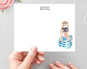 Custom Stationery, Personalized Stationery, Custom Fashion Stationery, Customized Portrait Stationery, Best Friend Gift