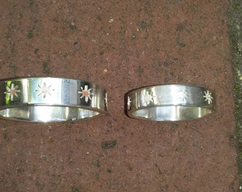 Matched Pair Sterling Silver Gothic Rings